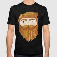 Gorgeous Ginger Beard Mens Fitted Tee Tri-Black SMALL