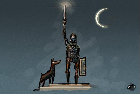 Sword & Sworcery Art Print