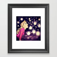 I See The Lights Framed Art Print