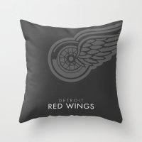 Minimal Detroit Throw Pillow