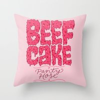 Beefcake Pantyhose Throw Pillow