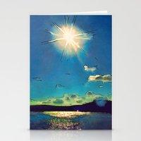 Sunshine At The Black Se… Stationery Cards