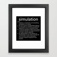 Simulation Framed Art Print