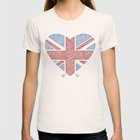 Union Jack  Womens Fitted Tee Natural SMALL