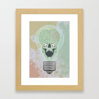 Think Martian  Framed Art Print