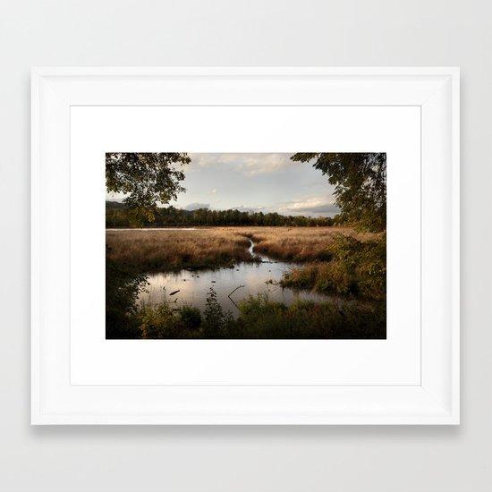Oaks Bottom Wildlife Refuge Framed Art Print