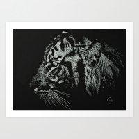 Fierce Tiger Art Print
