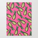 Pineapple Pattern Canvas Print