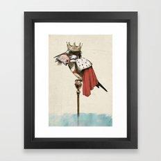 King Fisher Framed Art Print