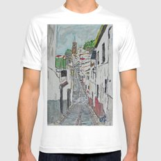 Calle en Ardales SMALL White Mens Fitted Tee