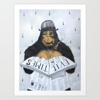 Read No Evil Art Print