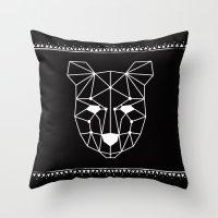 Totem Festival 2015 - White & Black Throw Pillow