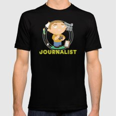 Journalist Mens Fitted Tee Black SMALL