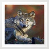 A Wolfs Life Art Print