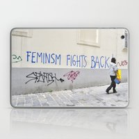 Feminism Fights Back Laptop & iPad Skin