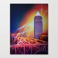 Moonbeams Over The Bridg… Canvas Print