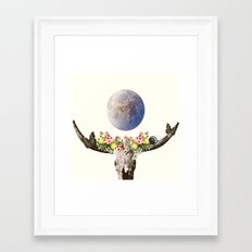 Holy Bull Skull Framed Art Print