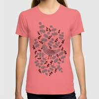 Birdie Bird Blue Womens Fitted Tee Pomegranate SMALL