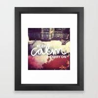 Keep Calm & Carry On Framed Art Print