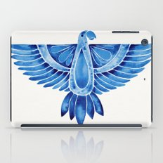Navy Parrot iPad Case