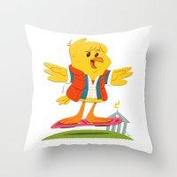 Hover Bird Throw Pillow