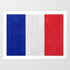 France flag Art Print