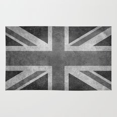 Union Jack  Vintage 3:5 Version in grayscale Rug