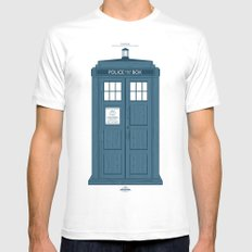 TARDIS SMALL Mens Fitted Tee White