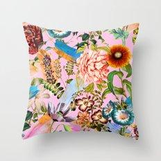 SUMMER BOTANICAL IX Throw Pillow