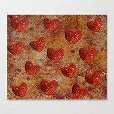 Love Pizza Canvas Print