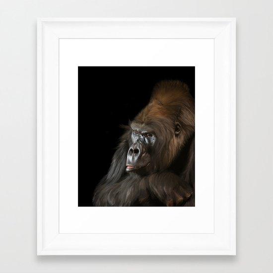 Silverback Western Gorilla Framed Art Print