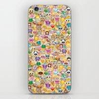Emoticon pattern iPhone & iPod Skin