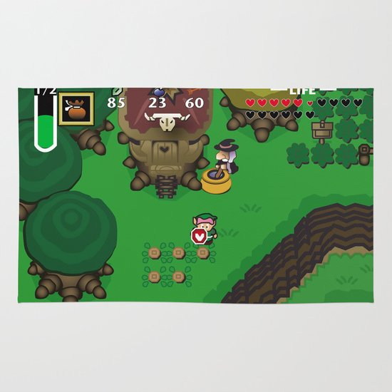 A Link to the Past Area & Throw Rug