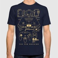 N64 Mens Fitted Tee Navy SMALL