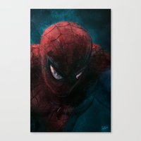 Spider-Man painting Canvas Print