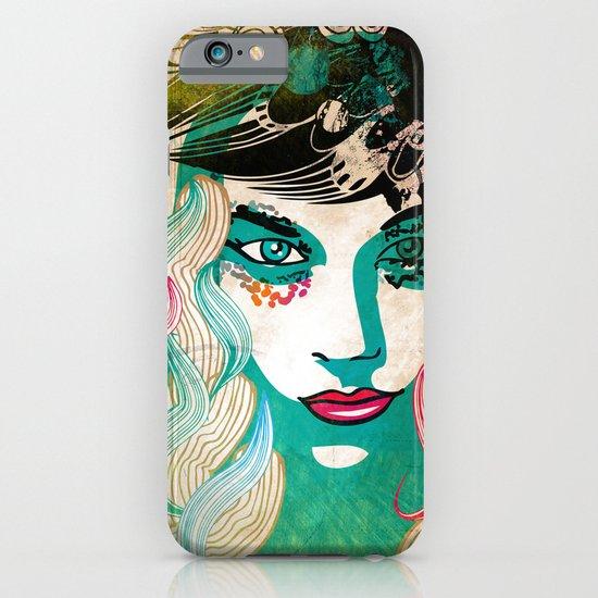 floral girl illustration iPhone & iPod Case