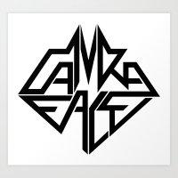 CamRaFace Logo White for T-Shirts Art Print