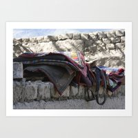 Tibetan Saddles Art Print