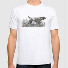 Pointer in Color Mens Fitted Tee Ash Grey SMALL
