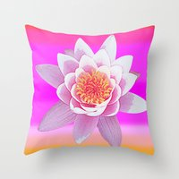 Ninfea Rose Throw Pillow