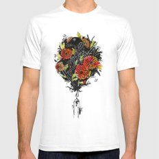Dhalias Mens Fitted Tee SMALL White