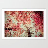 Autumn Inkblot Art Print