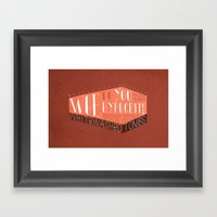 Whitewashed Tombs (by Ky… Framed Art Print