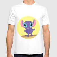 Stitch Mens Fitted Tee White SMALL