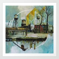 Motor City Odds and Ends Art Print