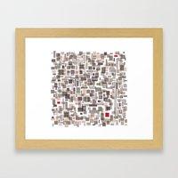 Mapping home 3 Framed Art Print