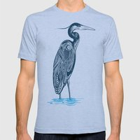 Bewitching blue heron Mens Fitted Tee Athletic Blue SMALL