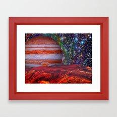 Looking At Jupiter Framed Art Print