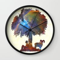 Resting In The Nebula. Wall Clock