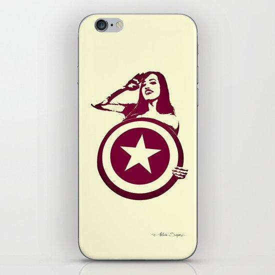Captain Girl America iPhone & iPod Skin